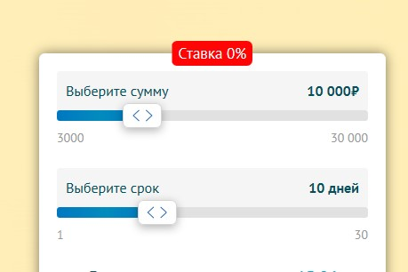 Микрокредит на сумму до 10000 рублей