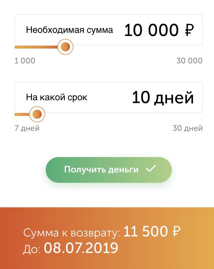 Онлайн калькулятор Белка кредит