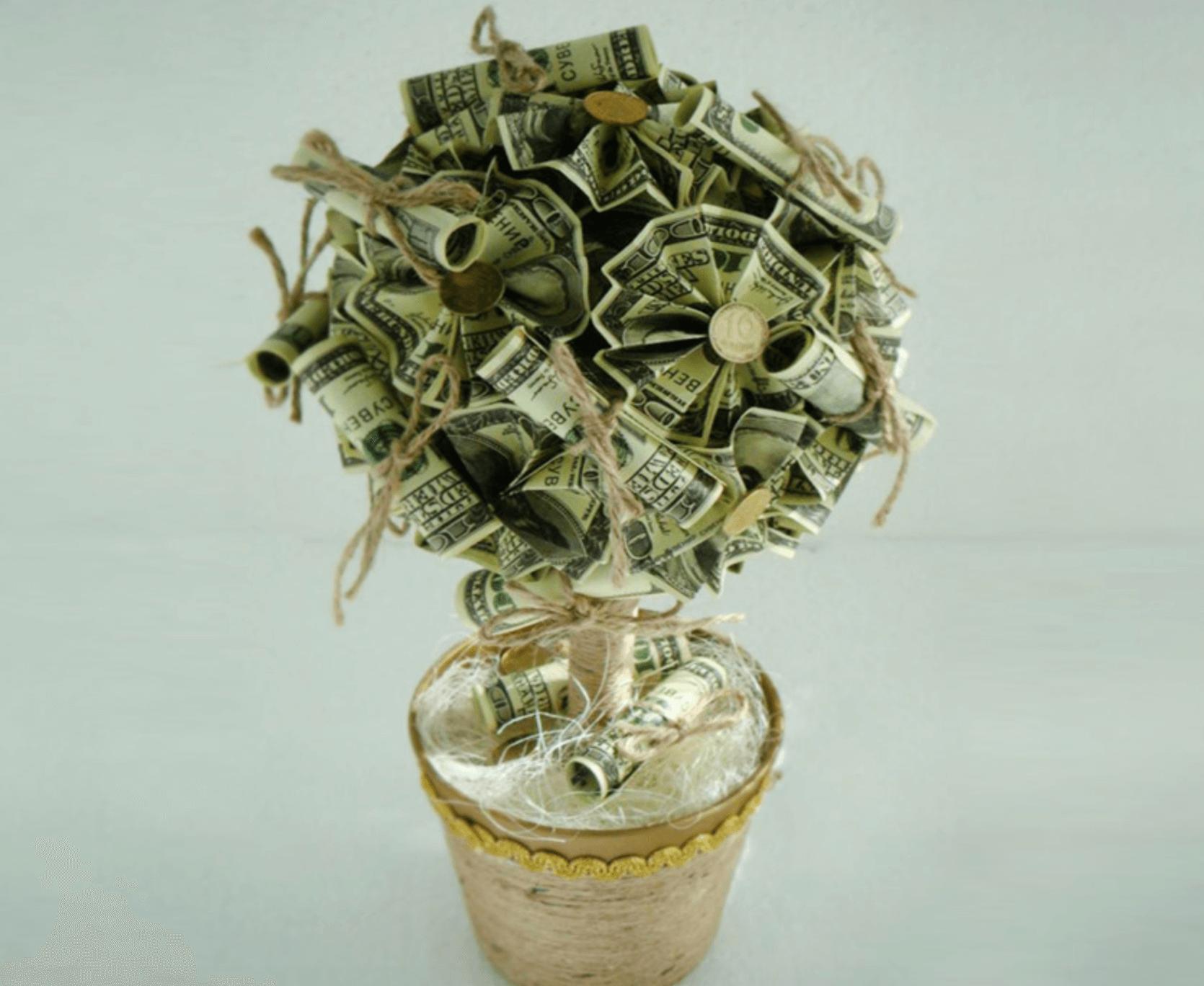 стихи к букету из денег ищите интересные