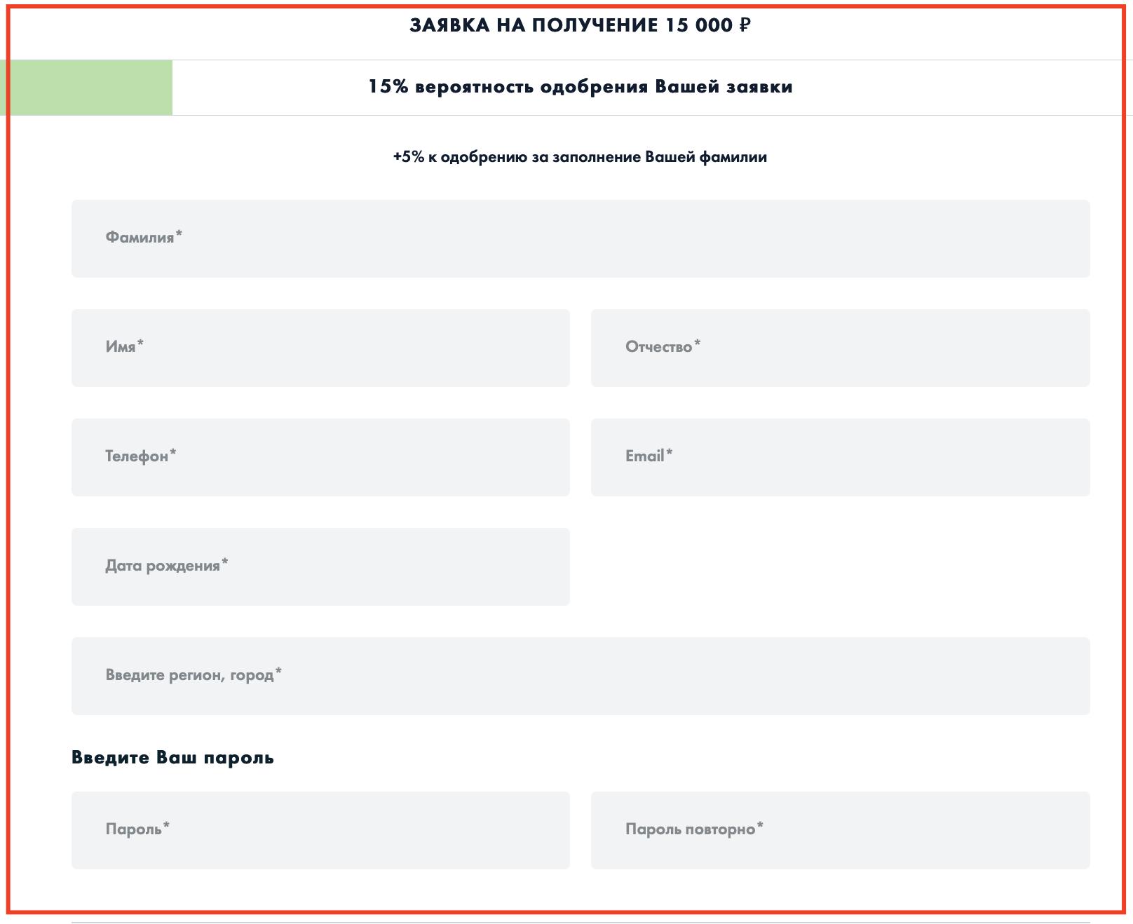Онлайн заявка в кредитсми