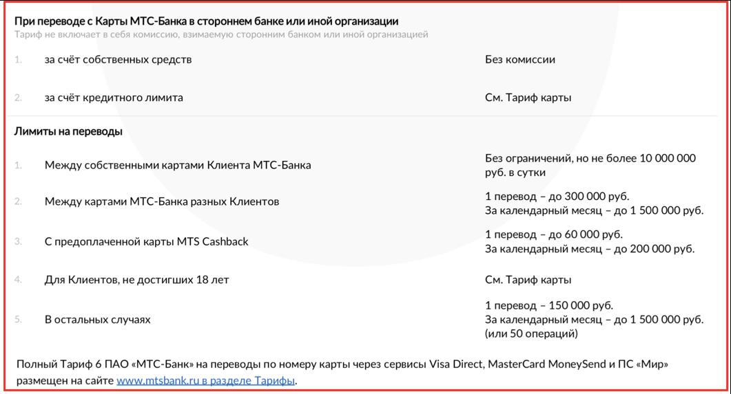 Кредитная карта МТС Кэшбэк (MTS CashBack)
