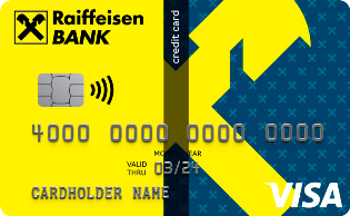Логотип кредитной карты кэшбэк на все райффазенбанк
