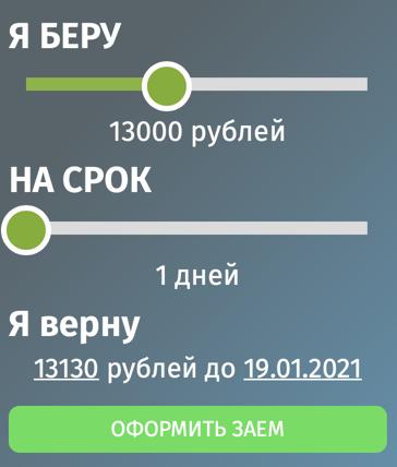 Онлайн калькулятор moneyshop