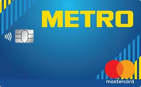 Логотип кредитной карты метро