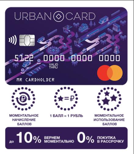 Условия кредитной карты урбан